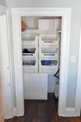 small closet after