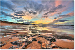 Reflections of Passion (Zakaria Salhi) Tags: africa sunset orange seascape colors yellow clouds landscape amazing sand nikon rocks 10 awesome sigma bleu morocco maroc 20 rabat afrique d300  zakaria  salhi