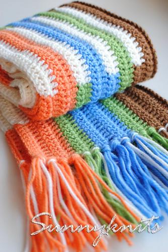 шарф зимний крючком - Выкройки одежды для детей и взрослых.