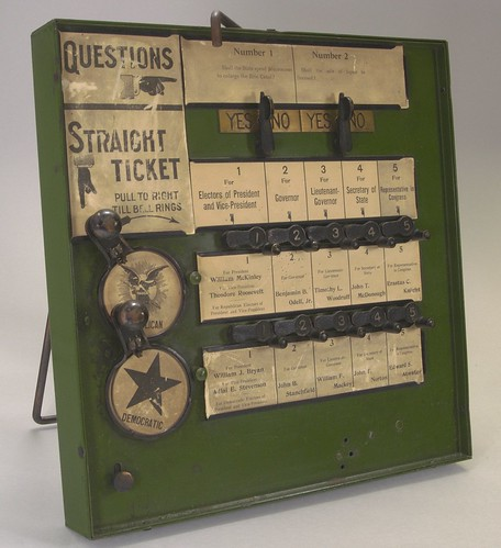 New York State Demonstration Voting Machine, ca. 1900 How far have we come since then? Are voting mac