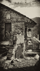 Back in time (klausthebest) Tags: old bw italy house italia village searchthebest liguria pentema torriglia mywinners theunforgettablepictures