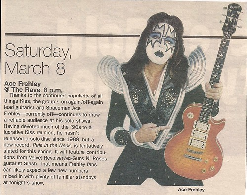 03/08/08 Ace Frehley @ Milwaukee, WI (News Item)