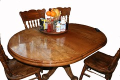 Oak Table - Restored (Imagination Unincorporated) Tags: refinishing buffing kitchentable polishing oaktable refinishedfurniture furniturerefinishing furniturefinishing dinetable