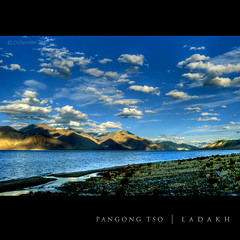 Evening blues at the Pangong Tso (CoSurvivor) Tags: india lake roadtrip tso himalaya hdr ladakh highaltitude pangong cosurvivor dblringexcellence potmmyladakh