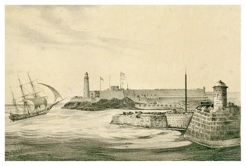 001-Morro y entrada del puerto de la Habana-Álbum pintoresco de la Isla de Cuba- 1853