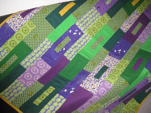 green violet quilt