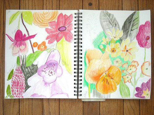 Sketch Book Flowers Whole