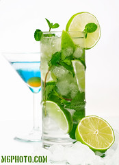 Mojito (Thx for MixerKing) (m6sport) Tags: blue lagune green ice glass mirror cocktail lime physalis menta rodope m6sport m6photo m6photocom