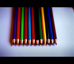 Coloured Pencils (-Canonist-) Tags: pencils canon eos bokeh coloured 50mm18 50d