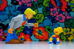 Fred Jones vs. Bart Simpson (54/365) (JD Hancock) Tags: fun toy actionfigure action bart cc figure duel freddie scoobydoo 365 char multicolored day54 bartsimpson nogeo hannabarbera fredjones inkitchen crazyisgood jdhancock duel365