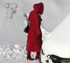 red long coat (coatwintercoat) Tags: red long coat down wintercoat puffy downcoat