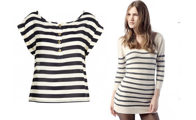 Stripe tees, totes, skirts from H&M, Intermix, Club Monaco, Net-a-porter, etc. Big Spring 2010 Trends.