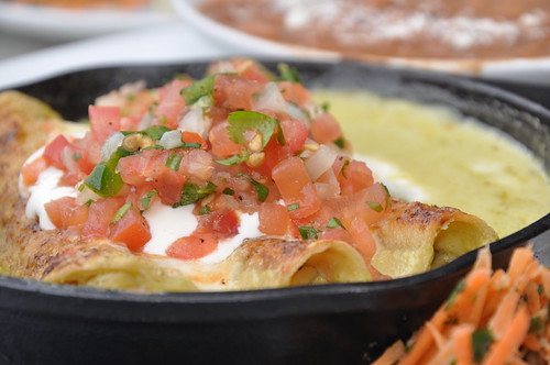 Green Chile Pork Enchiladas