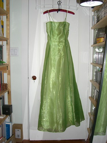 Shiny green prom dress