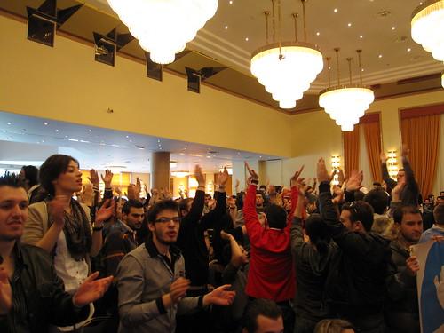Έντονο κλίμα και ενθουσιασμός από τα μέλη της ΟΝΝΕΔ