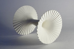 Curved Pleat (Black Hole) (Richard Sweeney) Tags: paper curve blackhole pleated richardsweeney