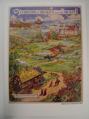COUNTRY of BEAUTY and the BEAST (Mumu X) Tags: beauty vintage map postcard beast reprint