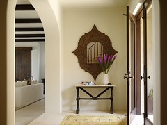 Kara Mann (It's Great To Be Home) Tags: entryway moroccan neutral consoletable statementmirror