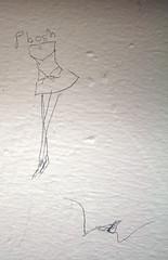 A dress, legs, and vagina (quinn.anya) Tags: ballet graffiti dress legs drawing doodle vagina