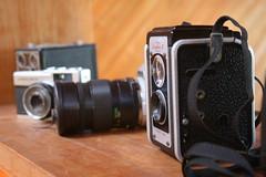 Vintage Camera Collection (ohsarahrose) Tags: camera vintage duaflex doubleshooting kodal