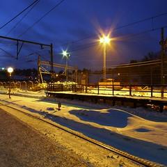 Neglinge trainstation in saltsjbaden (Dimitri Chalias) Tags: magichour saltsjbaden saltsjbanan neglinge panasoniclumixdmclx3