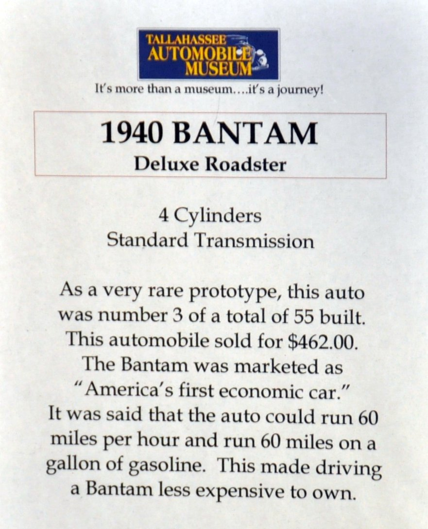 1940 American Bantam DeLuxe Roadster