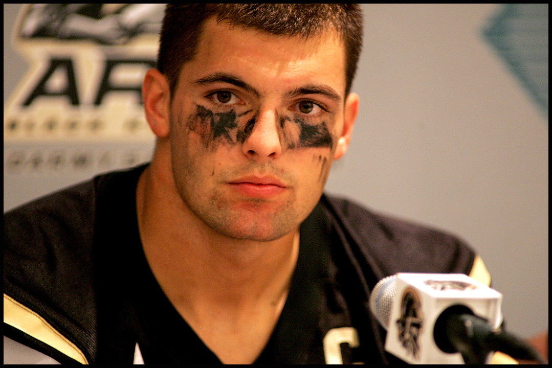 Army football captain Alejandro Villanueva.