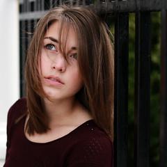 299/365 (GraceAdams) Tags: portrait girl self fence outside wind balcony deck porch 365 railing 365days