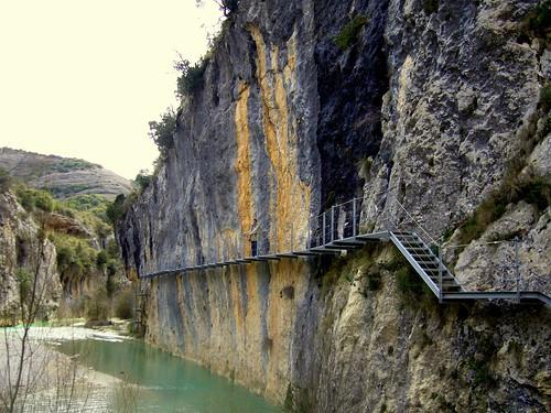 Ruta de las Pasarelas en Alquezar, Huesca (España)