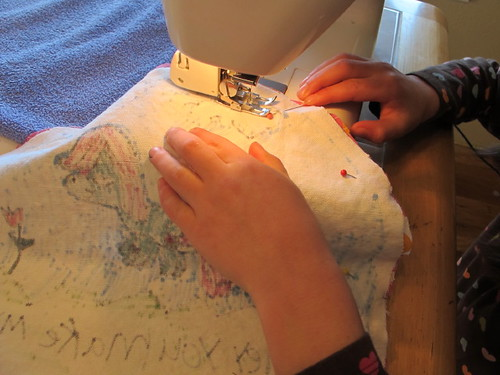Sewing pretty pillow