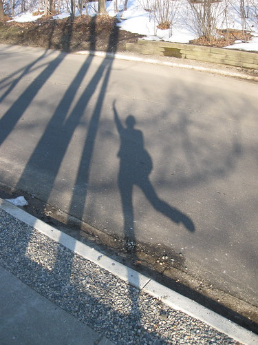 playing with my shadow.