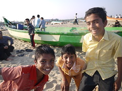 Kids on Marina Beach