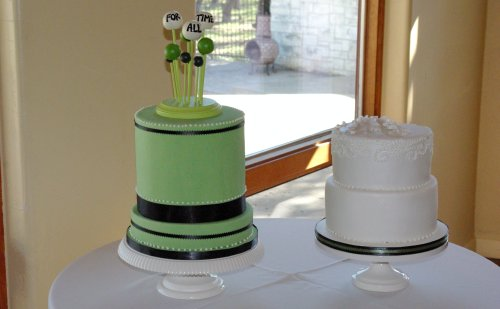 Green Cake with Topper