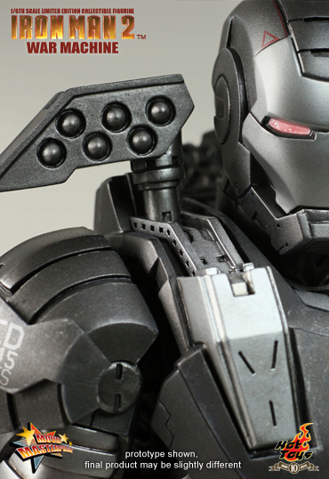 War Machine Hot Toys Limited Edition rockets