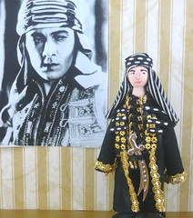 Rudolph Valentino as The Sheik (uneekdolldesigns) Tags: miniatureart handsome handpainted lover moviestars heartthrobs oldhollywood silentfilms wooddoll blackandwhitefilms silentfilmstars theshek rudoplhvalentino maleidol