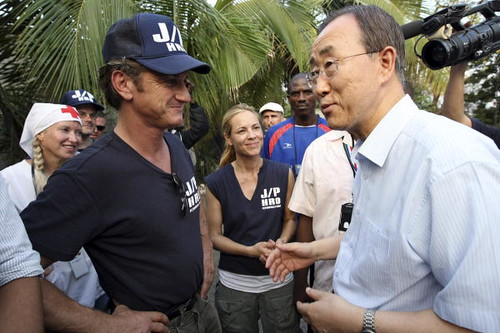 sean penn haiti. Sean Penn at Haiti IDP