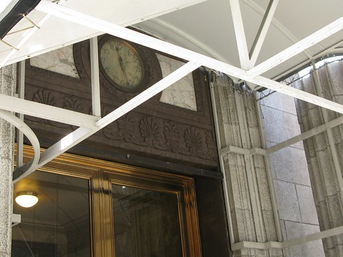 Bank of California Clock with Awning
