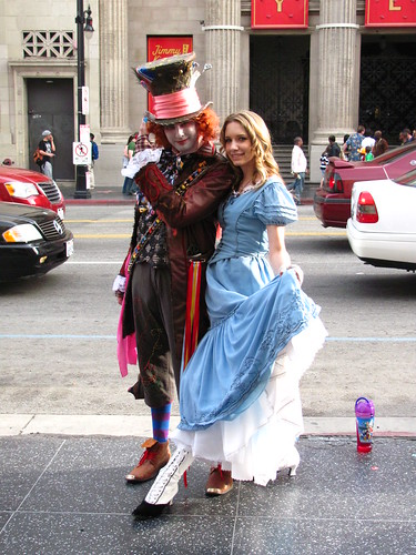 Mad Hatter and Alice on Hollywood Boulevard by Loren Javier