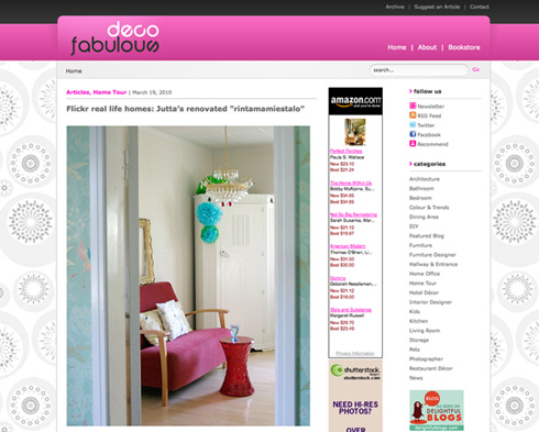 Home tour on DecoFabulous
