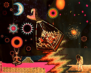 LARRY CARLSON, Yucatan Collage 6, collage on paper, 11inX14in, 2010.