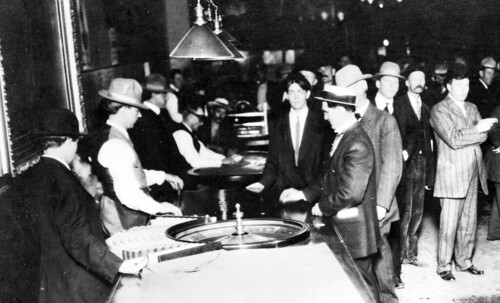 Photograph of gamblers from turn of the century.