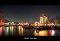 Oude Haven (Old Harbour) Rotterdam (DolliaSH) Tags: city longexposure trip travel light vacation holiday haven holland color building tourism water colors night reflections river lights noche rotterdam tour place nightshot nacht harbour nederland thenetherlands visit location tourist explore le journey destination traveling maas visiting frontpage nuit notte hdr touring stad 1022 willemsbrug lightroom noch zuidholland oldharbour canonefs1022mmf3545usm oudehaven rijnmond wittehuis southholland westermeijer nachtopname manhattanaandemaas canoneos50d dollia dollias sheombar dolliash
