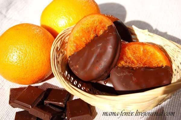 Апельсины в шоколаде конфеты рецепт