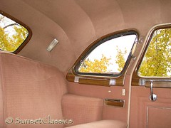 1949 Packard Custom 8 Limo Back Seat (Sunset Classics) Tags: auto classic car closeup forsale interior president luxury rare limousine 1949 packard harrytruman autoglamma custom8 customeight