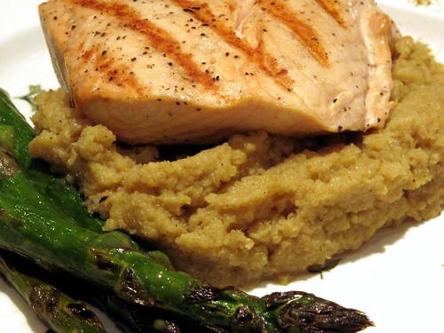 Wild Salmon with Curried Cauliflower Puree
