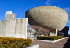 The Egg at Empire State Plaza (UrbanMechanic) Tags: egg modernism albany empirestateplaza brutalistarchitecture