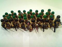 WWII US Army (General Armendariz) Tags: infantry soldier army us lego m1 wwii helmet american huge medic normandy dday 39 troops brickarms