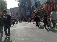 Crowd on the street at Ximending