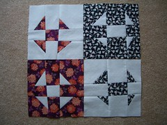 Kathryn's 4 Wonky Shoo Fly blocks