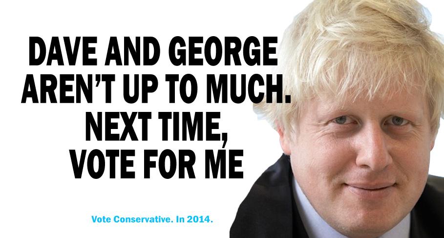 Tory poster spoof - Boris